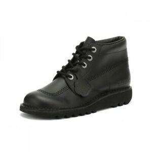 2019 DernièRe Conception Unisexe Jeunes Enfants Kicker Kicks Hi Core Cuir Noir École Chaussures De Loisirs Cadeau IdéAl Pour Toutes Les Occasions
