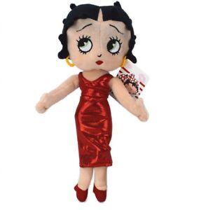 Betty-Boop-Plueschfigur-Pluesch-Kuscheltier-Puppe-Stofftier-Teddy-32cm