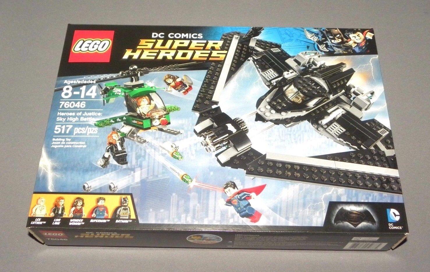 Lego Eroi Della Giustizia Sky High Battaglia Set 76046 Superman Batman Batwing