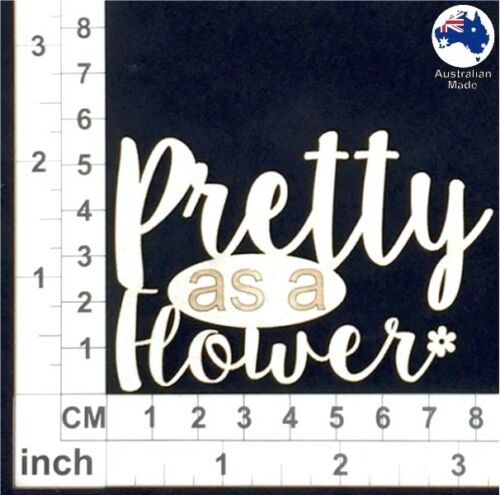 Pretty as a Flower CT006 Cardmaking Chipboard Words for Scrapbooking