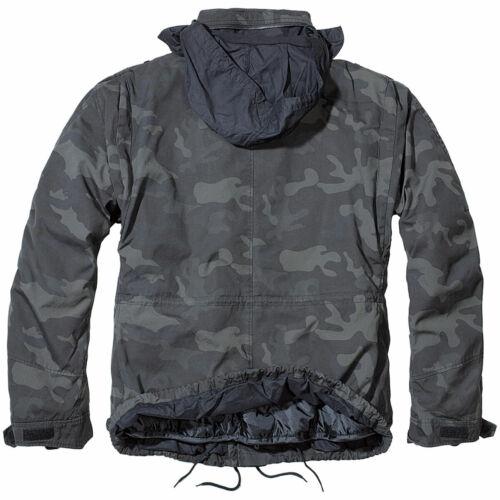 Brandit M65 Giant Veste Darkcamo Camo Camouflage Vintage Parka Combat Pour S-7XL