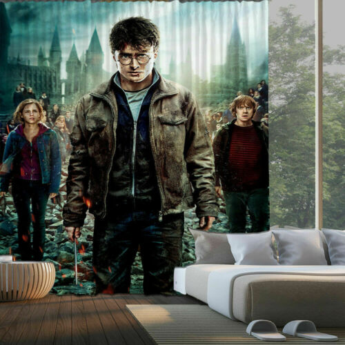 Harry Potter Blackout Window Curtain Drapes for Bedroom Living Room 2 Panel Gift