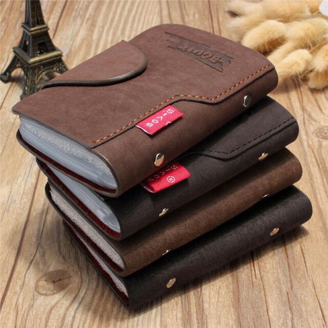 Wallet Luxury PU Leather Business Name Card Holder Case Bag Wallet