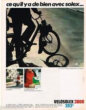 PUBLICITE ADVERTISING 105  1968  VELOSOLEX 3800  cyclomoteur SOLEXINE
