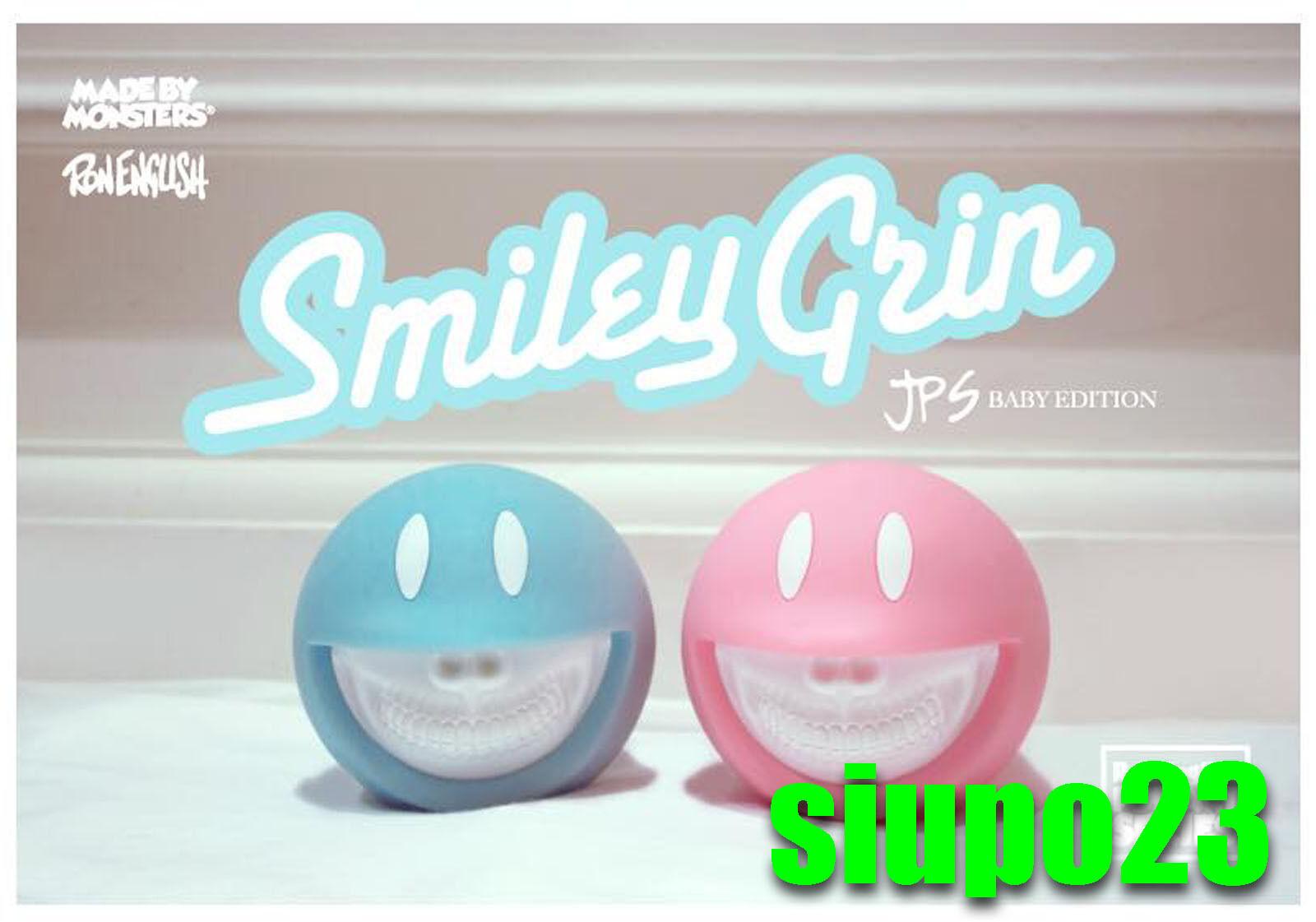 Ron Inglés X hecha por Monstruos X Jps Smiley Grin Rosa & Azul Edition 2p