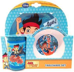Jake-amp-the-neverland-pirates-034-underwater-adventure-034-melamine-vaisselle-lot-de-3