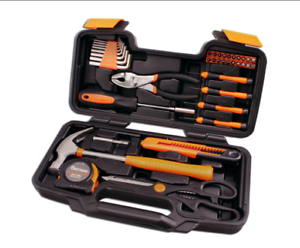 Image Is Loading 39 Piece Home Tool Kit Household