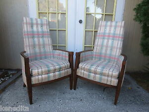 Details about PAIR Chairs French Country 2 Fauteuil Library Victorian  Hollywood Regency parlor