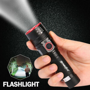 Super-Bright-LED-Flashlight-Rechargeable-Zoom-Torch-18650-USB-Rechargeable