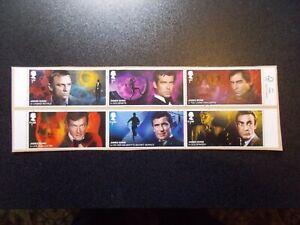 GB-2020-Commemorative-Stamps-James-Bond-Fine-Used-Set-on-piece-UK-Seller