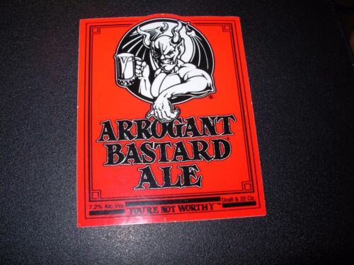 "STONE ARROGANT BASTARD ALE Red Logo 6/"" STICKER decal craft beer brewing brewery"