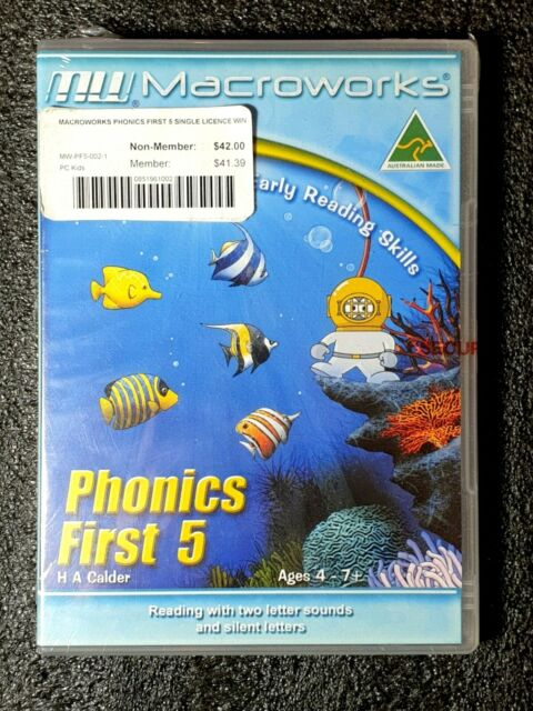 Early Reading Skills Phonics First 5 Ages 4-7+ Fun Learning Software PC