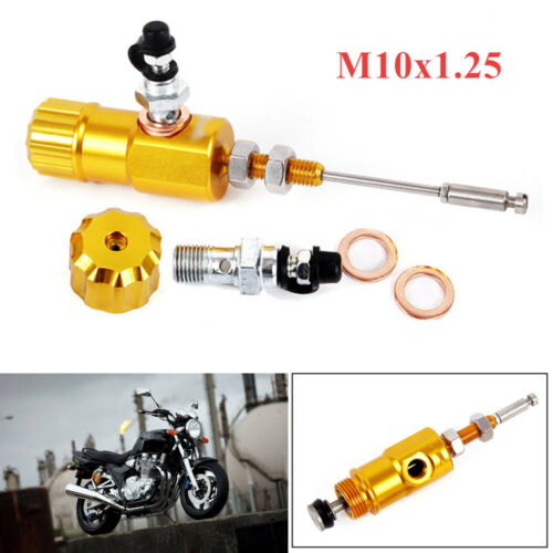 1Set of Master Cylinder Hydraulic Brake Clutch Performance Motorcycle Gold Color