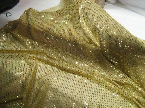 Gold /'glittery/' Sequin Fabric
