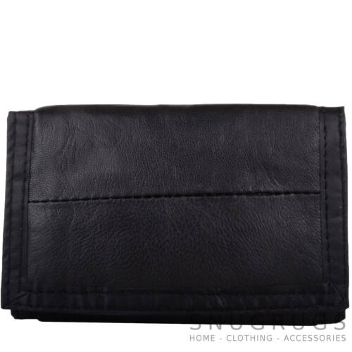 Money Wallet with Chain Gents Mens Boys Soft Leather Ripper Coin