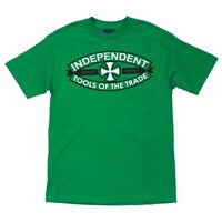 Independent Trucks Tools Of The Trade Skateboard Shirt Kelly Green Medium on sale