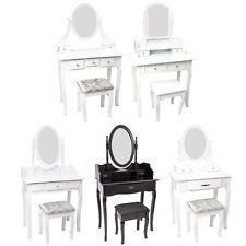 Nishano Dressing Table Drawer Stool Mirror Bedroom Makeup Desk White Black