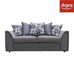 Image Is Loading Argos Home Dallas Sofa Bed Charcoal