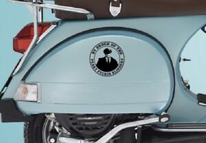 Details about Peaky Blinders sticker Fits Vespa side panels 140mm Mods  Skinshead Scooter