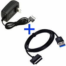 USB DATA Cable & AC Charger For Asus Eee Pad Transformer TF300T TF700 TF101 USA