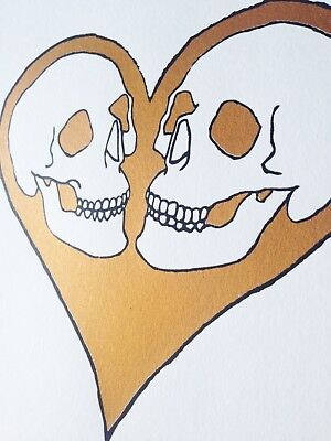 Valentine- skull stained glass small gift sun catcher mosaic art yellow skull art small art heart key black skull
