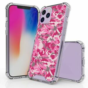 For iPhone 12 Pro Max Hybrid Bumper Shockproof Case Pink ...