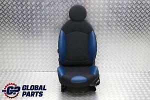 BMW-Mini-Cooper-R56-Sport-Cloth-Leather-Black-Blue-Front-Left-Seat-N-S