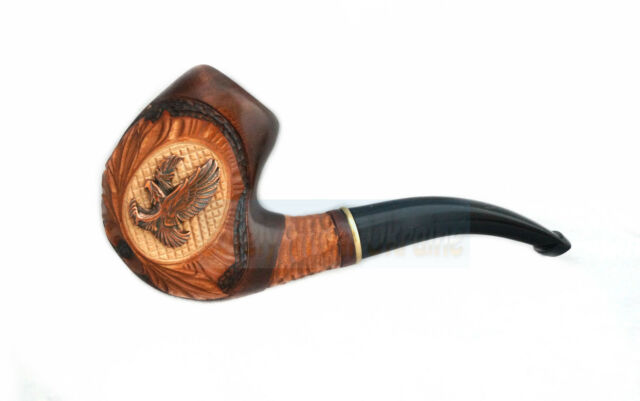 Hand carved tobacco smoking pipe pipes eagle ebay