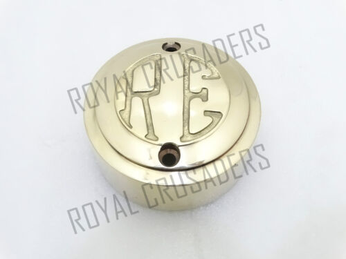 NEW ROYAL ENFIELD BRASS DISTRIBUTOR COVER /'RE/' EMBOSSED #RE15 @JUSTROYAL