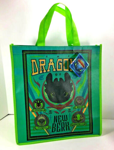 NEW How to Train Your Dragon TOOTHLESS Reuseable GIFT BAG Toy Tote Halloween