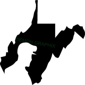 West Virginia Coal Miner Vinyl Decal Sticker State Mining