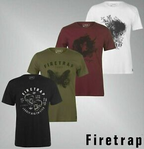 Mens-Firetrap-Crew-Neck-Short-Sleeves-Soft-Graphic-T-Shirt-Sizes-from-S-to-XXL