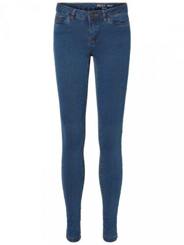 Noisy May Damen Jeans NMEXTRA EVE LW S.S Medium Blue Slim Fit JEANS SH001MB