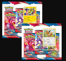 2x Battle Styles Sword & Shield 3-Booster Pack Blister Pokemon TCG Sealed
