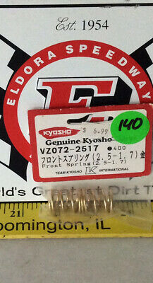 2Pcs NEW KYOSHO FAZER VE-X Front Spring 2.5-1.7 Gold VZ072-2517
