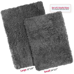 2PC-Shaggy-Area-Rug-Set-with-Non-Slip-Backing-Rubber-Large-amp-Small-Cozy-Bath-Mat