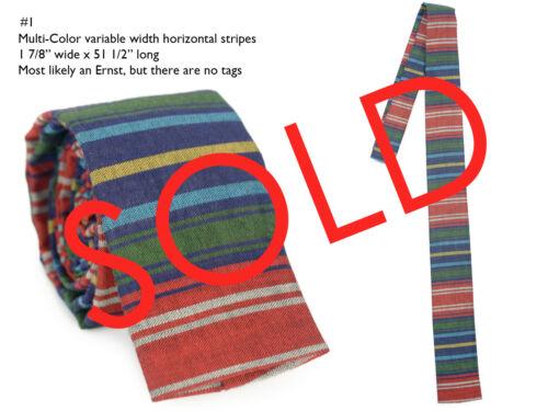 Vintage 60s /& 80s Neckties Square End Knit Sock Ties Wool Ernst Robert Talbott