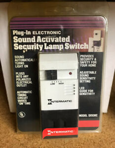 Intermatic-Plug-In-Electronic-Sound-Activated-Security-Lamp-Switch-Sound-Turn-ON
