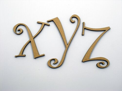 7.5cm Large Wooden Letter Words Wood Letters Alphabet Name Wedding CUR Lowercase