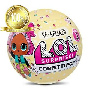 1 LOL Surprise Confetti Pop Series 3 New HTF Sealed Balls Authentic L.O.L. MGA