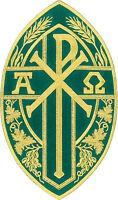 Chi-rho Christogram-alpha And Omega- Green - Iron On Patch - Large 10.5h
