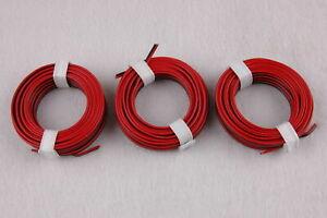 1m-Conducteur-Jumele-Rouge-Noir-3-X-5m-Neuf