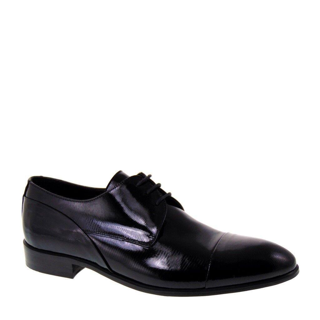 shoes ELEGANTI men CERIMONIA FONTANA 5828 PELLE VERNICE NERA NEW POOL