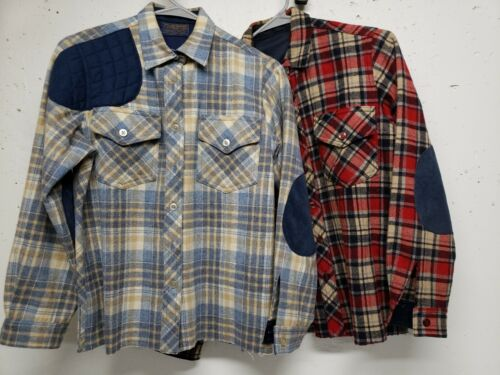 Vtg 50s PENDLETON Wool Flannel Custom shooting shi