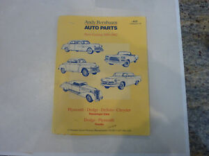 Andy Bernbaum Auto Parts Catalog Book From 1930 To 1962 Vintage And Rare Ebay