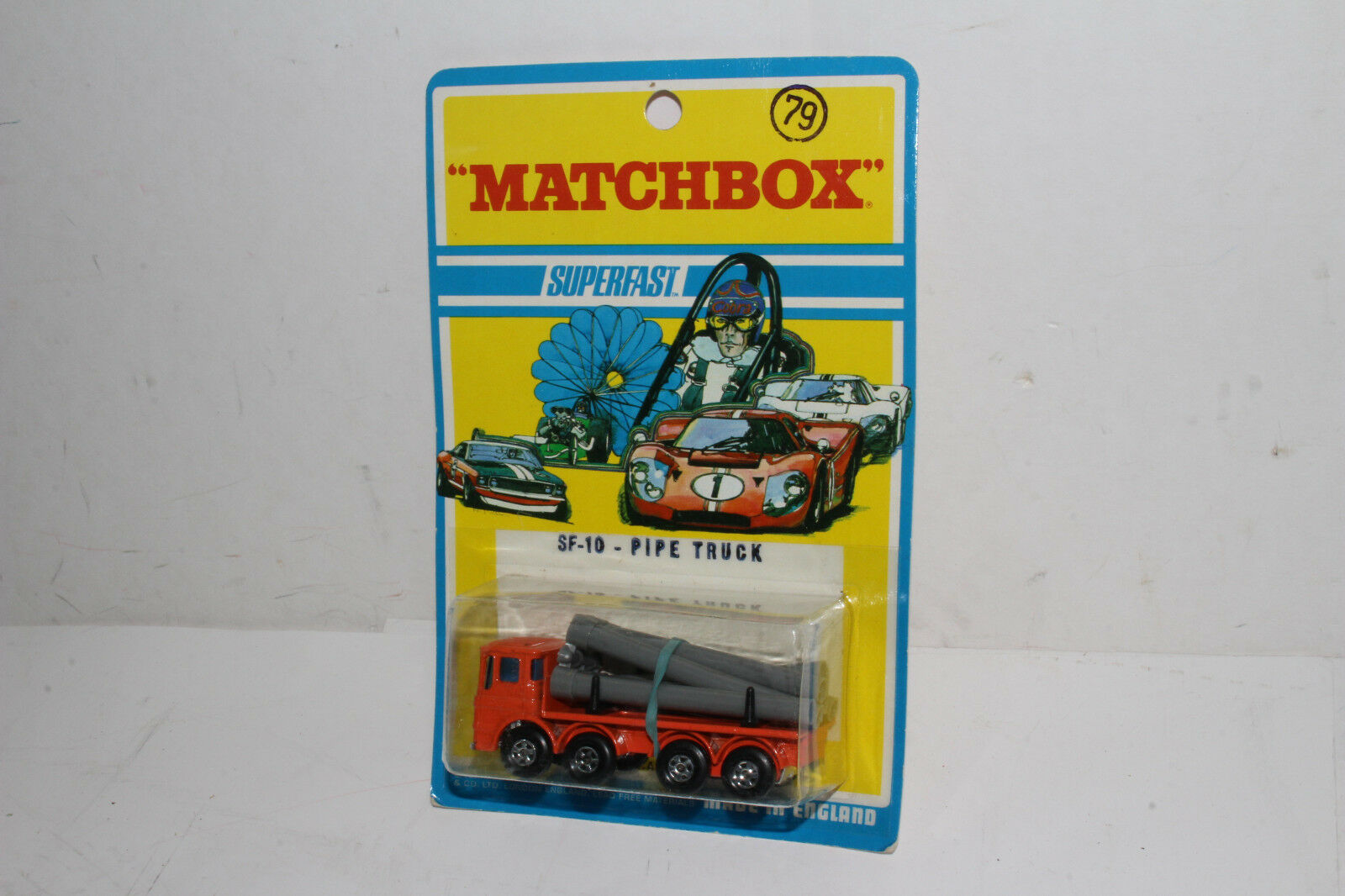 MATCHscatola SUPERFAST  10 LEYLe TUBO Camion, arancione, nuovo in blisterpack, lotto B