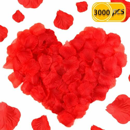Wedding 3000Pcs Artificial Silk Rose Flower Petals Decoration For Valentine Day
