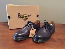 Dr. Martens Men's Shoes 1461 Mono 3 Eye Leather Oxfords Charcoal Mens 7 Women 8