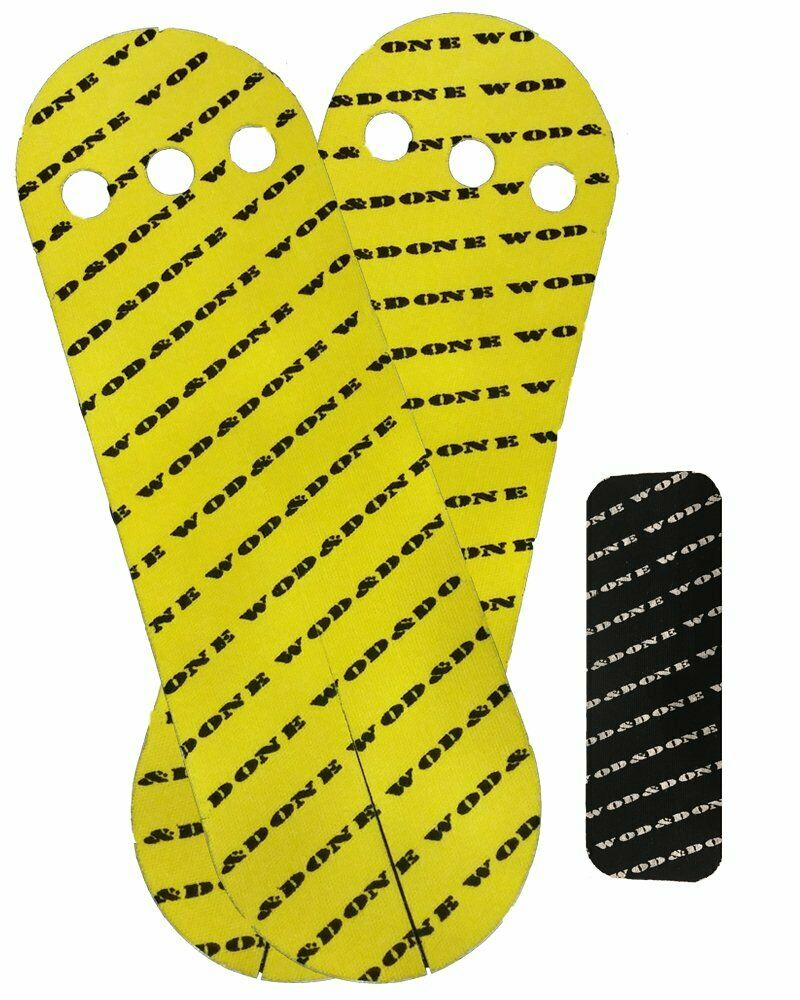 Wod & Done Grips  & Hook Grip Bundle - Yellow 20 Grips   24 Hook - Self Adhesive  at the lowest price