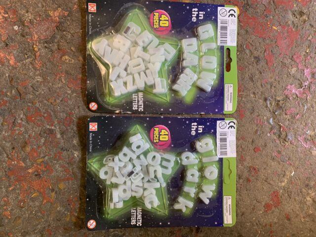 Fridge Memo Board Stocking Filler Gift Glow In The Dark Magnetic Letters